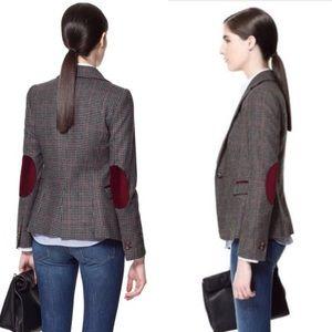 Zara Basic | Wool Blend Herringbone Blazer